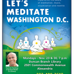 Washington Let's Meditate flyer